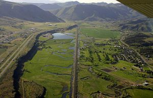 The Portneuf Gap south of Pocatello